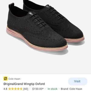 NEW Cole Haan Wingtip Oxfords